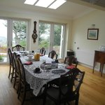The breakfast room with the view over Gairloch