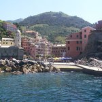 Village of Vernazza from the boat.