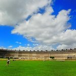 view across green in front of royal crescent