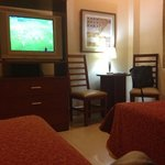 watching football game in my room at the Fenix Hotel