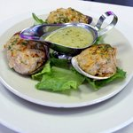 Clams Casino with Scampi Sauce