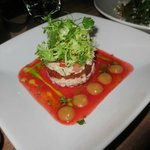 crab salad with strawberry
