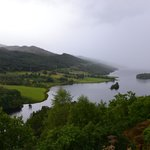 Queens View Loch Tummel on misty afternoon