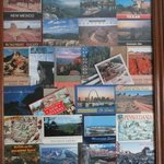 Postcards collected along the road