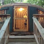 Our wonderful Green Yurt!
