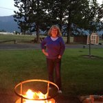Enjoying the fire pit on a lovely August night.