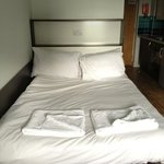 double bed - clean and comfy