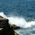 Incoming tide wave action