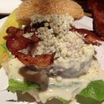 Bobby's Blue Burger with Bacon