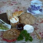 Lunch -'Jo's Plate' : Tea, sandwiches, scones&sweets
