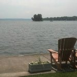View of Canandaigua Lake from outdoor area of the Inn on the Lake