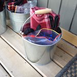 The buckets for fire making!!!