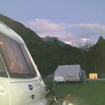 View of Mont Blanc from our pitch