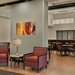 Relax in the comfortable lobby at the Hampton Inn & Suites Tampa Northwest Oldsmar