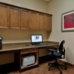 The business center at the Hampton Inn and Suites Tampa Northwest Oldsmar