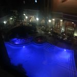 View of the pool from Room 448