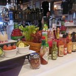 Bloody Mary Bar during Sunday Brunch