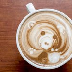 Bearly-awake cappuccino