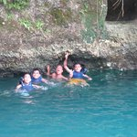 taking the splash @ the enchanted river