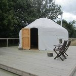 yurt on its decking