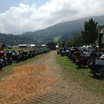 This is only a small part of motorcycles that arrived to the festival.