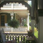 Porch view sit & rock away a summer day of horse/buggy driving by or cozy nite with a glass of w