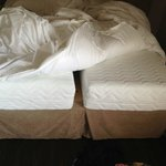 The 'king size' bed that was actaully two sinles pushed together
