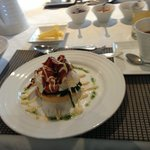 Egg Benedict, one of the breakfast set