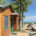 2 person lakefront cabins