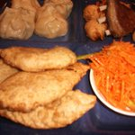 Mongolian sampler - different types of dumplings