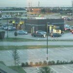 View of McDonald's from my room