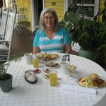 Each morning, we were served a delicious breakfast, and we chose to eat on the veranda.