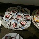 Loved their Nutella packets. It is a wonderful chocolate and hazelnut spreas that we put on our