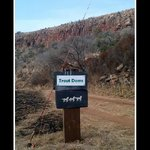 Sign that lead to horse trail & trout dams