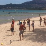 Le volley sur la plage!!!!