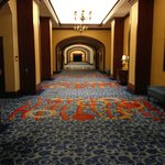 Long hallway to the elevators