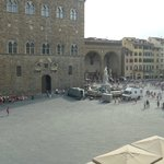 Our view of Piazza Della Signoria from 1 of our 4 large windows!