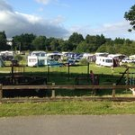 View over the camping field as you enter the park and look right