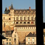 Château Amboise from the living room of La Porte Bleue