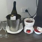 our fondue package and wine