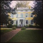 Photo of the beautiful Causey Mansion from the front lawn