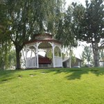 Gazebo outside of lodging area