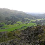 View down to the Chestnut Villa from Helm Crag