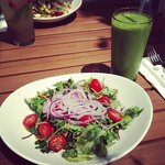Kale Salad and Kale Banana Smoothie