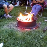 Great campfire with friends