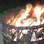Campfire enjoyment at Egg Harbor Campground
