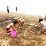making sand sculpture