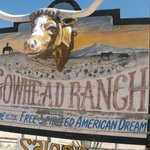 Cowhead sign going into the Ranch