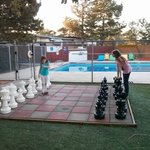 Chess set and pool