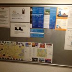 Notice board....Wi Fi was offered but difficult top set up